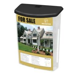 "Deflect-O® Outdoor Literature Box, 13 1/8""H x 10""W x 4 1/2""L, Clear"