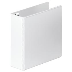 "Wilson Jones® Premium One-Touch Round-Ring View Binder, 3"" Rings, 52% Recycled, White"