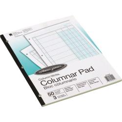 "Wilson Jones® Columnar Pad, Side Bound With Shaded Columns, 8 1/2"" x 11"", 3 Columns, 50 Sheets"
