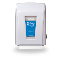 "Cascades PRO® Tandem®+ Mechanical No-Touch Hand Towel Dispenser, 15 1/5""H x 11 1/5""W x 9""D, White"