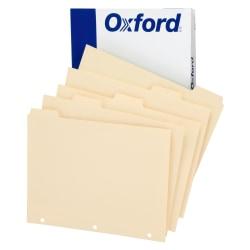 Oxford™ Manila Tab Dividers, Blank, 5-Tab, Box Of 20 Sets
