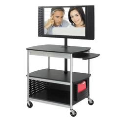 Safco® Scoot™ Mobile Audio/Visual Cart, Black