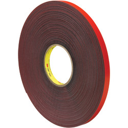 "3M™ VHB™ 4611 Tape, 1.5"" Core, 0.5"" x 5 Yd., Gray/Red"