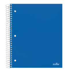 "Office Depot® Brand Stellar Poly Notebook, 8 1/2"" x 11"", 3 Subject, College Ruled, 300 Pages (150 Sheets), Blue"