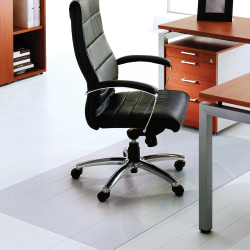 """Cleartex XXL Polycarbonate General Office Mat, For Hard Floors, 48"""" x 118"""""""