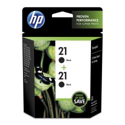 HP 21, Black Original Ink Cartridges (C9508FN), Pack Of 2