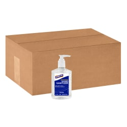Genuine Joe Hand Sanitizer - Neutral Scent - 8.5 fl oz (251.4 mL) - Pump Bottle Dispenser - Kill Germs - Hand - Clear - Bio-based - 24 / Carton