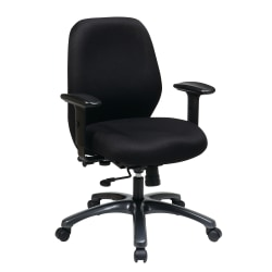 Office Star™ ProLine II Adjustable Fabric Executive Chair, Black
