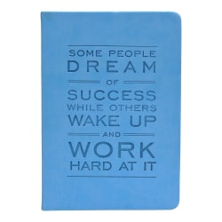 "Eccolo™ Inspirational Journal, Success Quote, 5 1/2"" x 7 1/2"", Blue"