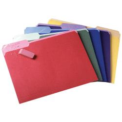Pendaflex® Color File Folders, Erasable Tabs, 1/3 Cut, Letter Size, Assorted Colors, Pack Of 30