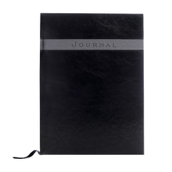 "Eccolo™ Large Format Business Journal, 8"" x 10 1/2"", Black/Grey"