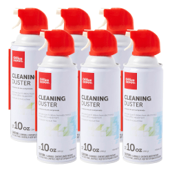 Office Depot Cleaning Dusters Canned Air, 10 Oz., Pack of 6