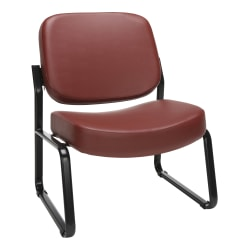 OFM Big And Tall Anti-Bacterial Guest Reception Chair, Wine/Black
