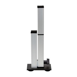 "Ergo Desktop Stabilization Leg For Kangaroo Adjustable-Height Desks, 16 1/2""H x 3""W x 7""D, Silver/Black"