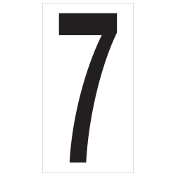 "Office Depot® Brand Vinyl Warehouse Labels, DL9307, Number 7, 3 1/2"", Black/White, Case Of 50"