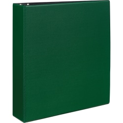 """Avery® Durable Binder With EZ-Turn™ Rings, 8 1/2"""" x 11"""", 2"""" Rings, 45% Recycled, Green"""