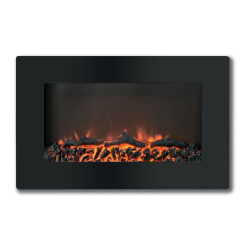 Cambridge Callisto CAM30WMEF-2BLK Electric Fireplace - Indoor - Wall Mountable