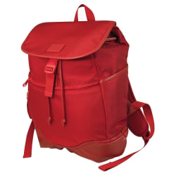 """SUMO Carrying Case (Backpack) for 14.1"""" to 15"""" Notebook - Red - Ballistic Nylon, Polyurethane Leather, Faux Leather - Shoulder Strap - 17"""" Height x 14"""" Width x 6"""" Depth"""