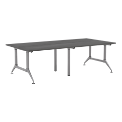 "Mayline® Even™ Engineered Wood Work Table, 4-Person, 96""W, Driftwood"