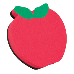 "Ashley Productions Magnetic Whiteboard Erasers, 3 3/4"", Apple, Pack Of 6"