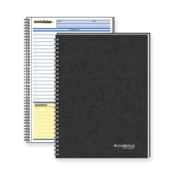 """Mead QuickNotes 1 - Subject Business Notebook - Jr.Legal - 80 Sheets - Wire Bound - 20 lb Basis Weight - 5"""" x 8"""" - White Paper - Black Binder - Black Cover - Linen Cover - Perforated, Subject, Bond Paper - 1Each"""