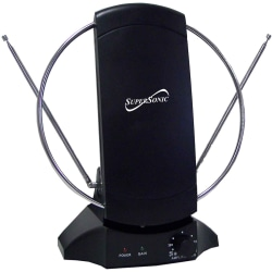 Supersonic SC-605 HDTV and Digital Amplified TV Indoor Antenna - 40Mile - 30dB - Satellite HDTV, Radio Communication - Desktop