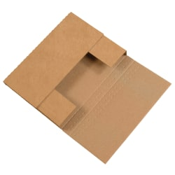 """Office Depot® Brand Easy Fold Mailers, 7 1/2"""" x 5 1/2"""" x 2"""", Kraft, Pack Of 50"""