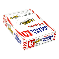 Bonomo Turkish Taffy Bars, 1.5 Oz, Vanilla, Box Of 24
