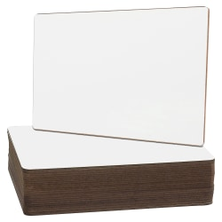 "Flipside Nipped Corners Plain Frameless Dry-Erase Boards, 9"" x 12"", Pack Of 24"