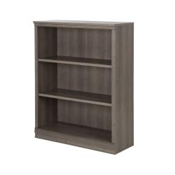 South Shore Morgan 3-Shelf Bookcase, Gray Maple