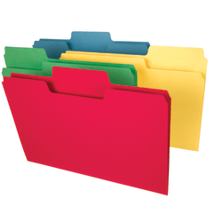 Smead® SuperTab® Heavyweight File Folders, Legal Size, Assorted Colors, Box Of 50
