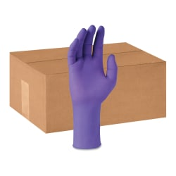 Kimberly-Clark Professional Purple Nitrile-XTRA Exam Gloves - Medium Size - Nitrile, Polyethylene, Natural Rubber - Purple - Durable, Textured Fingertip, Latex-free, Beaded Cuff, Tear Resistant - For Chemotherapy - 500 / Carton