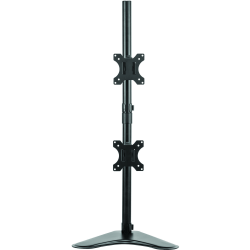 """Fellowes® Professional Series Freestanding Dual-Stacking Arm For Monitors Up To 32"""", 35 1/2""""H x 15 5/16""""W x 11""""D, Black, 8044001"""