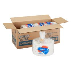 """Dixie® Ultra Heavyweight Paper Plates, 5 7/8"""" Diameter, Assorted Colors, 125 Plates Per Pack, Case Of 4 Packs"""