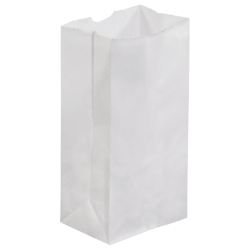 """Partners Brand Grocery Bags, 6 7/8""""H x 3 1/2'W x 2 3/8""""D, White, Case Of 500"""