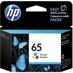 HP 65 Original Ink Cartridge, Tri-Color (N9K01AN)