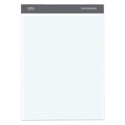 """Office Depot® Brand Perforated Pad, 8 1/2"""" x 11 3/4"""", Quadrille Ruled, 200 Pages (100 Sheets), White"""