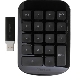 Targus® Wireless Numeric Keypad, Black/Gray