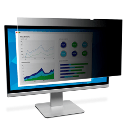 """3M™ Privacy Filter Screen for Monitors, 24"""" Widescreen (16:9), Reduces Blue Light, PF240W9B"""