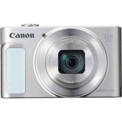 "Canon PowerShot SX620 HS 20.2 Megapixel Compact Camera - Silver - 3"" LCD - 25x Optical Zoom - 4x Digital Zoom - Optical (IS) - 5184 x 3888 Image - 1920 x 1080 Video - HD Movie Mode - Wireless LAN"