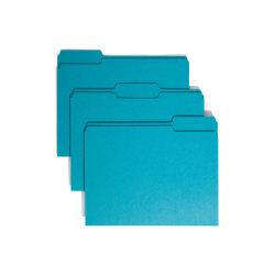 Smead® Color File Folders, Letter Size, 1/3 Cut, Teal, Box Of 100