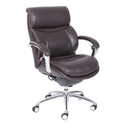 Serta® iComfort i5000 Manager Bonded Leather Mid-Back Chair, Chocolate/Silver