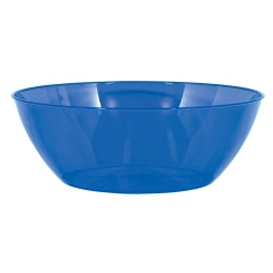 "Amscan 10-Quart Plastic Bowls, 5"" x 14-1/2"", Bright Royal Blue, Set Of 3 Bowls"