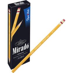 Paper Mate® Mirado® Pencils, Unsharpened, #2 Lead, Medium Soft, Pack of 12