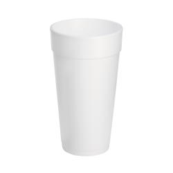 Dart® Insulated Foam Drinking Cups, White, 20 Oz, White, Pack Of 500 Cups