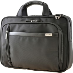 "Codi Protégé Carrying Case for 15.6"" Notebook - Black - Strain Resistant Shoulder Strap - Ballistic Nylon, Nylon Interior - Handle, Shoulder Strap, Trolley Strap - 11"" Height x 16"" Width x 4"" Depth"