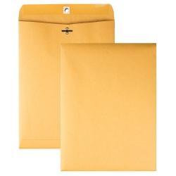 "Quality Park Clasp Envelopes, 9"" x 12"", Brown, Box Of 250"
