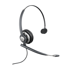 Plantronics® EncorePro HW710 Monaural Over-The-Head Customer Service Headset, Gray, 78712-101