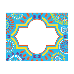"Barker Creek Self-Adhesive Name Badge Labels, 3 1/2"" x 2 3/4"", Moroccan, Pack Of 45"
