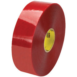 """3M™ 3779 Pre-Printed Carton Sealing Tape, 3"""" Core, 3"""" x 1,000 Yd., Clear/Red, Case Of 4"""